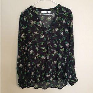 Liz Claiborne Sheer Floral Top